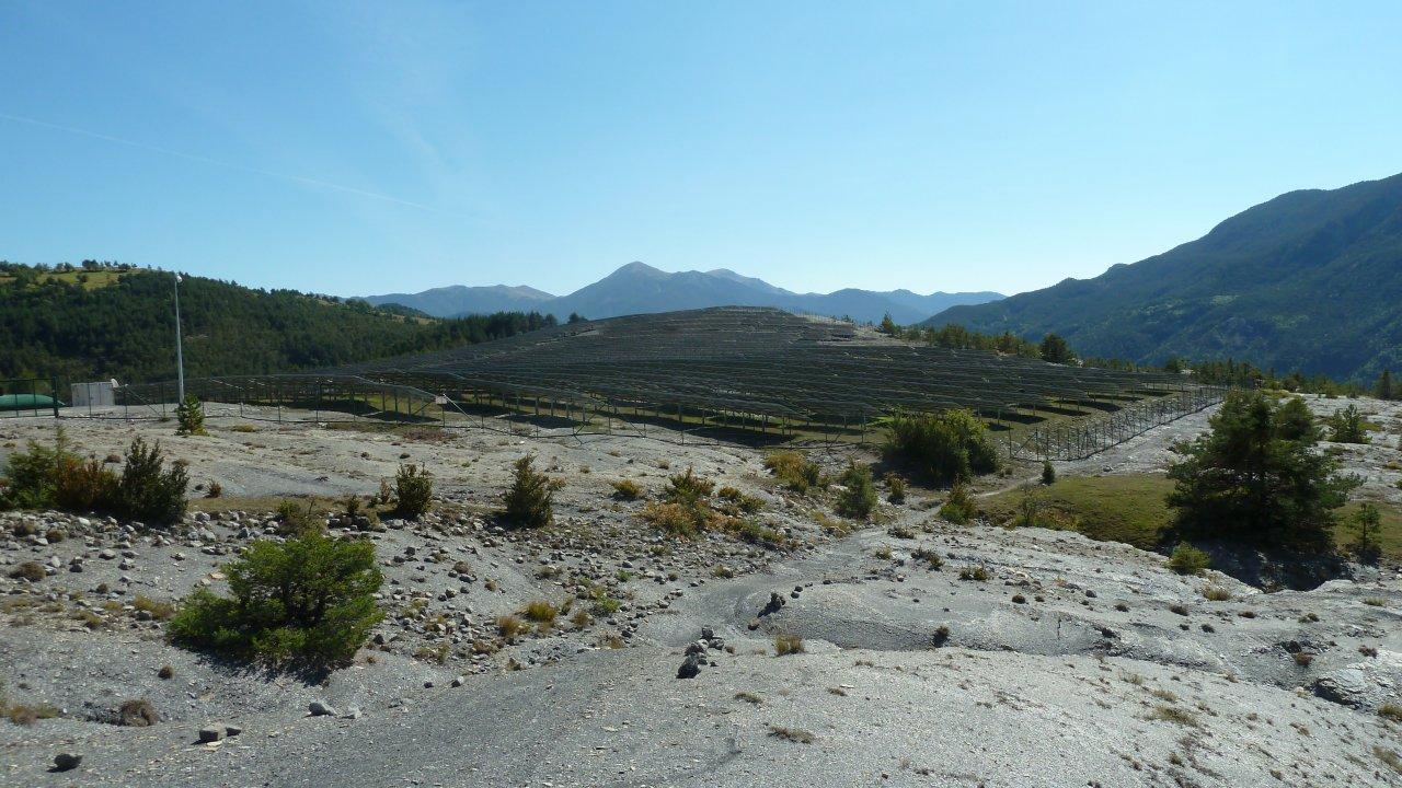 Plateau de Bante et l'usine solaire
